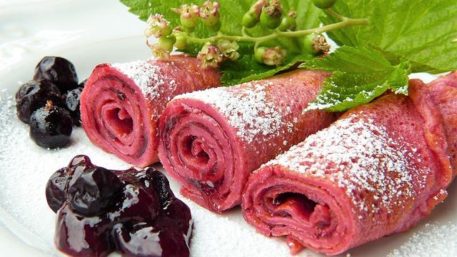 růžové palačinky